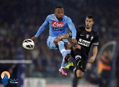 دیدار تیمهای ناپولی و یوونتوس در لیگ سری A ایتالیا