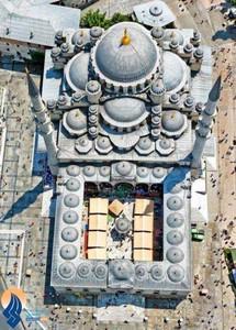 نمایی زیبا از مسجد ایا صوفیه _ استانبول