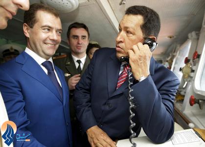 دیدار او از ناوشکن روسی به همراه مدودوف در ونزوئلا