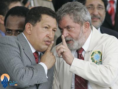 دیدار دیپلماتیک او با رئیس جمهور برزیل درسفر او به این کشور _ 2005