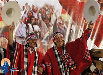 عکس یادگاری او با مورالس رئیس جمهور بولیوی _2011