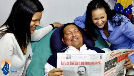 آخرین عکس منتشر شده از چاوز همراه دخترانش در بیمارستان