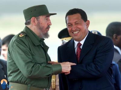 ملاقات او با کاسترو در کاراکاس_ 2012