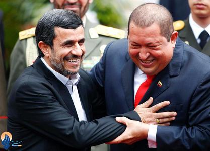 خندههای احمدی نژاد و چاوز در کاراکاس 2012