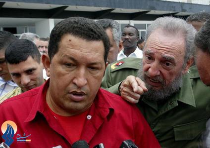 ملاقات چاوز و کاسترو در فرودگاه هاوانا _ 2005