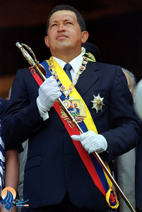 چاوز در جشن سالگرد تولد سیمون بولیوار