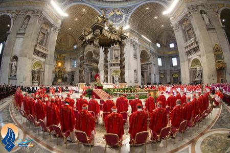 جلسه روز سه شنبه کاردینالها در کلیسای سنت پیتر برای انتخاب پاپ جدید _واتیکان
