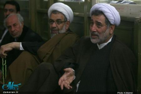 علیخانی و شریعتی در مراسم ترحیم سیداحمد خمینی و همسر امام