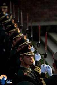 گارد ویژه نیروهای نظامی چین در مراسم ورود رئیس جمهور برمه به این کشور
