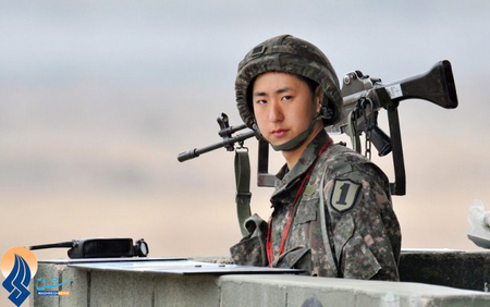 سرباز ارتش کرهجنوبی در مرز دو کره