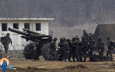 آمادهباش نظامی سربازان کرهجنوبی در برابر جنگ احتمالی