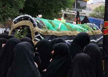 مراسم عزاداری سالروز شهادت حضرت زهرا (س) در تربت حیدریه