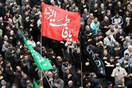 مراسم سالروز شهادت جانسوز دخت نبی مکرم اسلام در میدان شهدای ذهاب (شهرداری) رشت