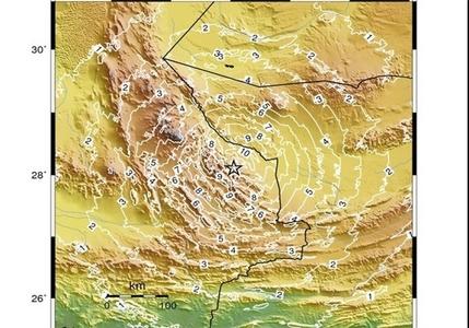 نقشه سرعت امواج لرزه ای، زلزله سراروان