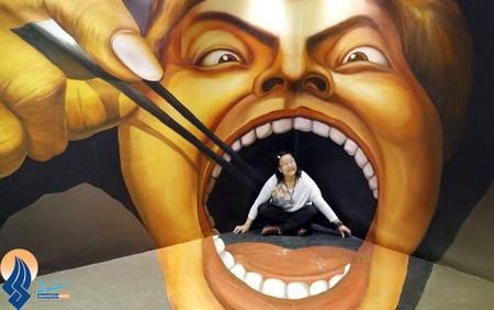 نمایشگاه نقاشیهای سه بعدی _ چین