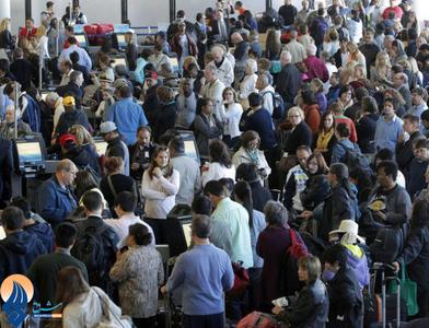 اختلال در سیستم پروازهای فرودگاه لس آنجلس و سرگردانی صدها مسافر این فرودگاه _ آمریکا