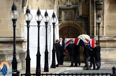 تمرین مراسم خاکسپاری مارگارت تاچر با یک تابوت خالی _ انگلیس