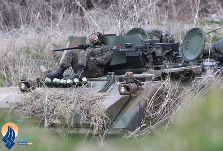 آماده باش سربازان ارتش کره جنوبی در نزدیکی مرز  با همسایه شمالی
