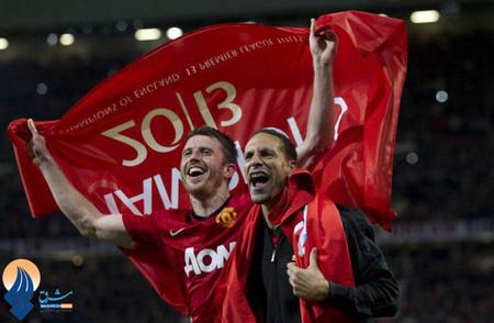 منچستریونایتد انگلیس با شکست دادن استون ویلا قهرمانی خود را در لیگ برتر این کشور جشن گرفت.