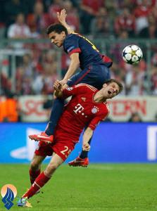 دیدار بایرن و بارسلونا در لیگ قهرمانان اروپا
