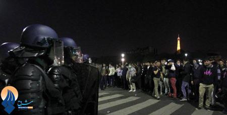 درگیری مخالفان تصویب قانون ازدواج همجنسگرایان با ماموران ضدشورش در پاریس