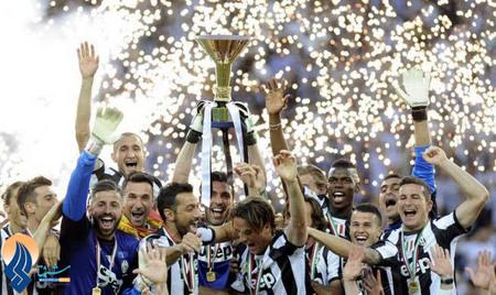 جشن قهرمانی تیم یونتوس در مسابقات سری A ایتالیا