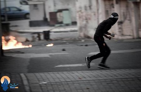 درگیری جوانان بحرینی با ماموران آل خلیفه