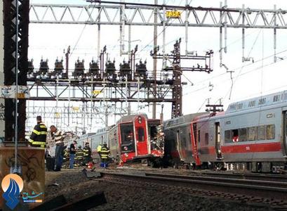 برخورد دو قطار مسافری در شهر نیویورک _ آمریکا