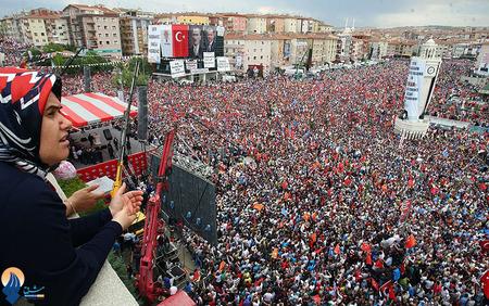 تجمع حامیان اردوغان در آنکارا _ترکیه