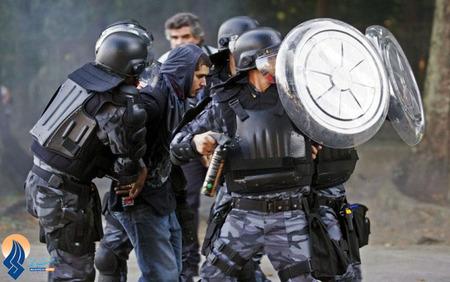 تظاهرات خشونتبار جوانان برزیلی مقابل محل برگزاری جام کنفدراسیونها _ برزیل
