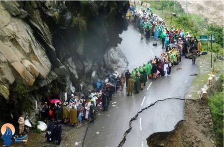 جاری شدن سیل و رانش زمین براثر بارش شدید بارانهای موسمی در ایالت آلاکاندا _هند