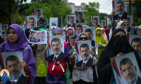 تظاهرات زنان طرفدار محمد مرسی در قاهره