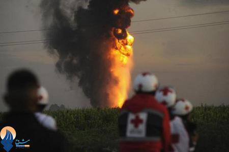 انفجار خط لوله گاز در حومه مکزیکوسیتی _ مکزیک