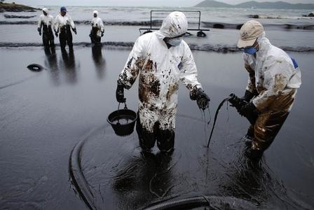 آلودگی نفتی سواحل جزیره فراو _ تایلند