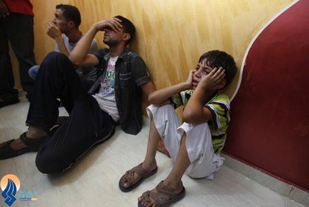 برادر کوچک شهید حسین عبدالله که روز گذشته در نوار غزه به دست نظامیان اشغالگر به شهادت رسید
