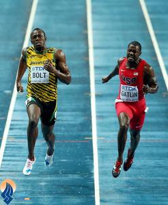 فینال دو 100 متر مردان مسکو که با قهرمانی اوسین بولت به پایان رسید