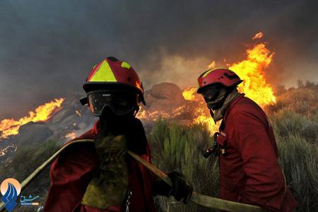 آتش سوزی در جنگلهای کاستلو _ پرتقال