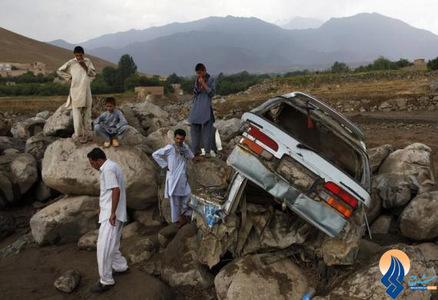 خسارات ناشی از سیل در دره شاکر کابل _ افغانستان