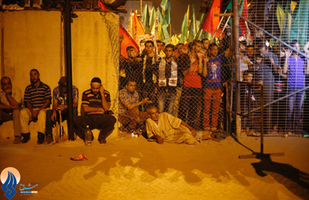 انتظار مردم فلسطین برای استقبال از اسرا