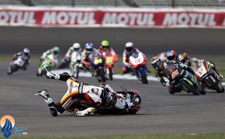 حادثه برای موتورسوار استرالیایی در جریان مسابقه MOTO3 ایندیاناپولیس _ آمریکا