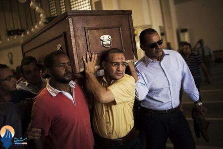 تشییع یکی از کشته شدهگان حامی مرسی _ قاهره