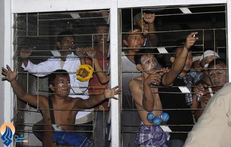 شورش زندانیان یک زندان در جزیره سوماترا به دلیل ازداحام بیش از گنجایش در این زندان _ اندونزی