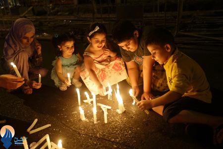 مراسم یادبود کشته شده گان انفجار اخیر در جنوب لبنان