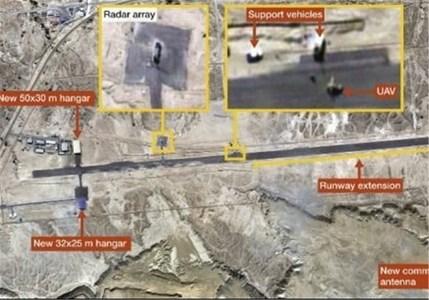 (تصویری که رسانههای غربی از پایگاه جدید ایران در قشم منتشر کردهاند)