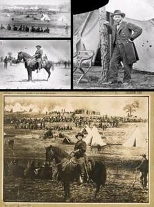 صاحب این عکس یکی از فرماندهان جنگ در شمال آمریکا بوده که با این کار قصد قدرتمندتر نشان دادن خود را داشته است.