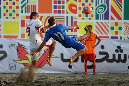 دیدار دوستانه فوتبال ساحلی ایران و ایتالیا
