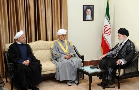 دیدار سلطان قابوس پادشاه عمان با مقام معظم رهبری