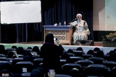 سخنرانی حجتالاسلام محسن قرائتی رئیس ستاد اقامه نماز کشور در گردهمایی فعالان قرآنی استان تهران