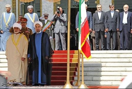 استقبال رسمی روحانی از پادشاه عمان