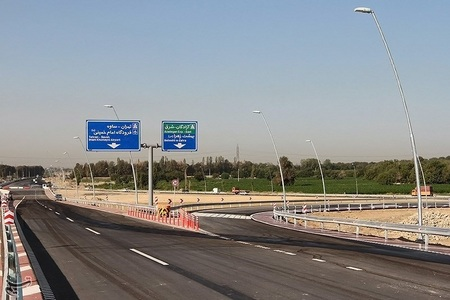 افتتاح 2 تقاطع غیر همسطح بزرگراه آزادگان